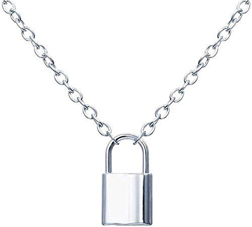 MNMXW Necklace Lock&Key Pendant Couple Necklaces for Women&Men Lover Friendship Promise Necklace Romantic Jewelry