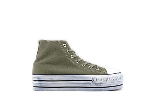 Modelisa - Zapatillas De Lona Plataforma Mujer (Verde,...