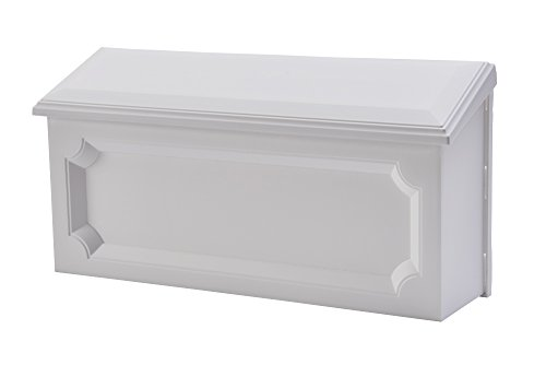 Gibraltar Mailboxes Windsor Small Capacity Rust-Proof Plastic White, Wall-Mount Mailbox, WMH00W04