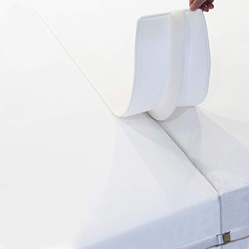 Ruili Bed Bridge Twin to King Converter Kit with Bed Sheet Fastener, Bed Mattress Connector and Gap Filler to Make Twin Beds Into King