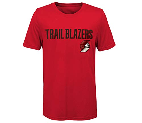Outerstuff Damian Lillard Portland Trail Blazers #0 Youth Player Name & Number Performance T-Shirt (Youth Medium 10/12) Red