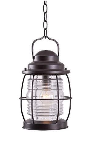 Kenroy Home 90955GC Beacon Hanging Lantern, Blackened Gilded Copper Finish