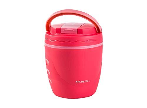 Arcosteel Caja de Bento del almuerzo del acero inoxidable para la comida caliente 1L Rosa