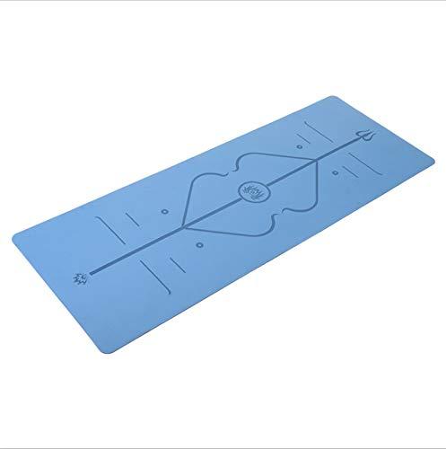 LDH Matón de Yoga Material Impermeable Material TPE Material de Entrenamiento, Pilates and Fitness Mats de Ejercicios Antideslizantes Y Amigables con La Piel 183 * 61cm (Color : Monochrome)