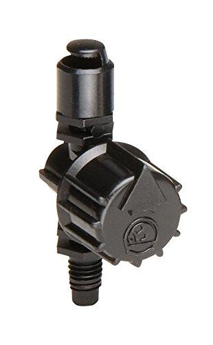 Rain Bird MSH2PKS Drip Irrigation 10-32 Threaded Micro-Spray Nozzle, 180° Half Circle Pattern, 0 - 10.5' Spray Distance, 2-Pack,Black