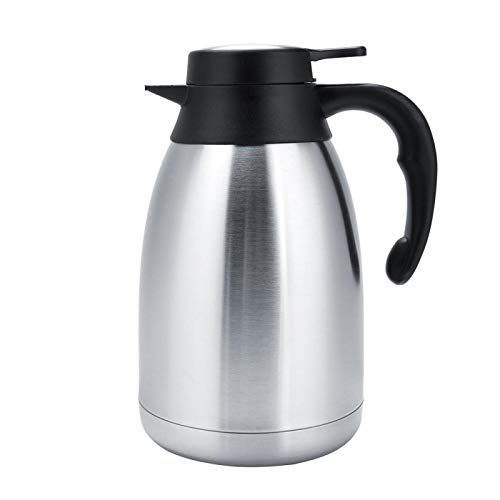 Olla de agua aislada al vacío Acero inoxidable Café Té Olla de agua Herramientas de agua(1,5 litros)