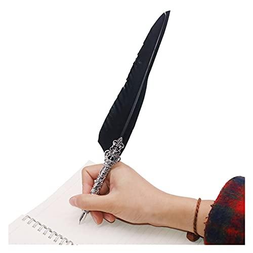 YXIUER 1 Set Russian Inglés Caligrafía Pluma Dip Pen Scription Conjunto de Tinta Papelería Cajas de Regalo con 5 Nib Regalo Boutique Pluma Pluma (Color : 1 Sets, Nib Size : 1 Sets)