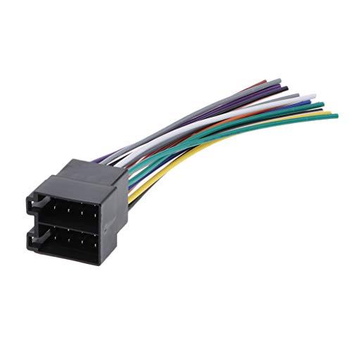 H HILABEE Conector Del Arnés de Cable Del Adaptador ISO de Radio Del Enchufe Macho Estéreo Del Coche