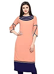 Shopping Queen Womens Georgette Straight Kurti