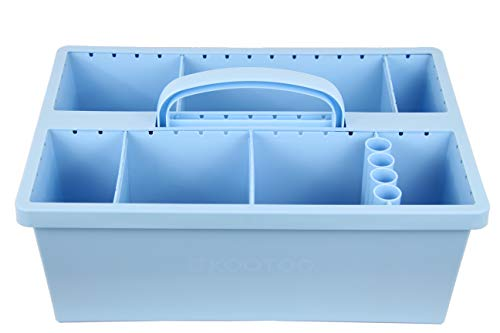 Kootoo Portable Organizer Caddy Container with Modular Design for School, Cleaning, Tools, and More | Billow Blue Standard Unit