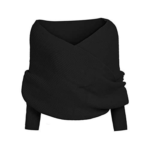Mekta Multifunktionstücher,Damen Schal Cape Schal Wintermode Unisex warm häkeln gestrickt Wickeln Schal Cape mit Ärmeln