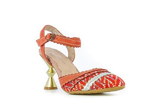 Laura Vita HACO03Rouge - Zapatos para mujer, piel, diseño de zapatillas, Rojo (rojo), 38 EU