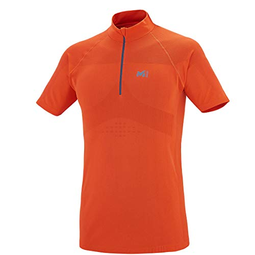 MILLET LTK Seamless Zip SS Tee Shirt Homme, Orange, XS/S