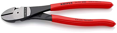 KNIPEX Tools 74 21 200, 8-Inch High Leverage Angled Diagonal Cutters