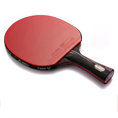 JIANGCJ bajo Precio. Raqueta de Tenis de Mesa: Paleta Profesional de Ping Pong con Estuche de Transporte - ITTF Caucho Aprobado for el Torneo, Ping Pong Racket-H