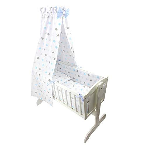 TupTam Juego de Ropa de Cuna para Bebé - 6 Piezas, Estrellas Azul Gris, 6 pzs. Juego