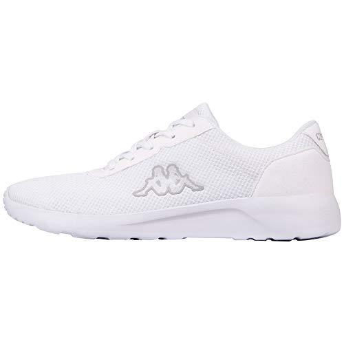 Kappa Unisex-Erwachsene TUNES OC Sneaker, 1010 White,48 EU