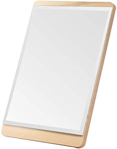 Miroir de maquillage LHY tenture Miroir de Bureau Portable Hanging Pliant Dortoir étudiant Fille Portable en Bois La Mode (Size : 20 * 15cm)
