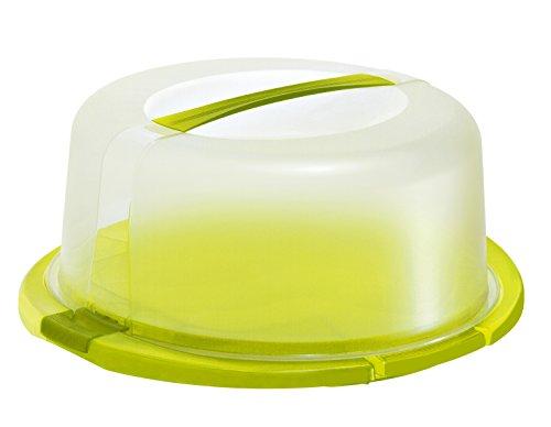 Rotho Cool und Fresh Tortenglocke, Kunststoff (BPA-frei), grün / transparent, (29 x 29 x 16cm)