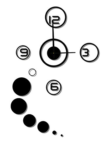 Relógio de Parede Concept, Modelo Redondo Preto Me Criative RFP Preto Pacote de 1