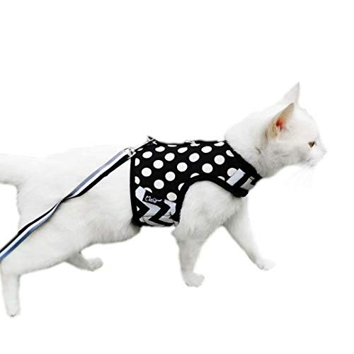 Escape Proof Cat Harness with Leash and Padded Cat Vest by Yizhi Miaow