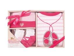 Luvable Friends 07148P Baby Bekleidungs Set 4-teilig pink Größe: 0-3 Monate