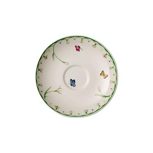 Villeroy & Boch Colourful Spring Sous-tasse (14 cm), Porcelaine Premium, Blanc/Multicolore