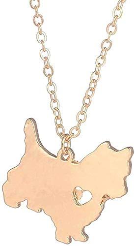 zxcdsaqwe Co.,ltd Collar de Oro 1pc Collar Collar de Perro Colgante de Perro Mascotas Amantes de los Perros
