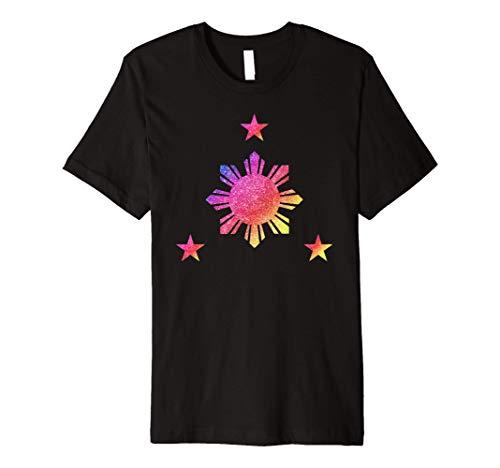 Philippines 3 Star and Sun Rainbow Filipino Flag Premium T-Shirt