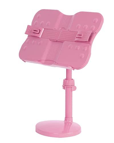 ブックスタンド 書見台 読書台 本立て 高さ調整可 角度調整可 卓上 勉強 (PINK)