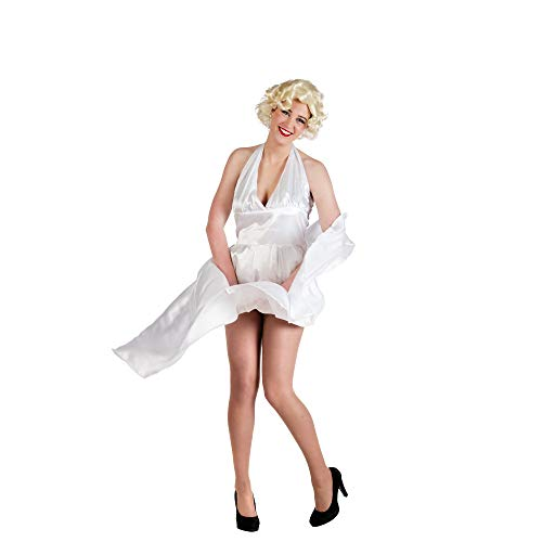 Limit Sport Marylin Monroe kostuum dames Hollywood filmster jurk wit
