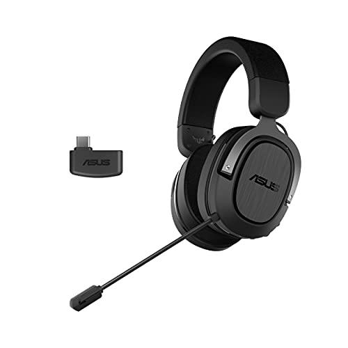ASUS TUF Gaming H3 Wireless - Auriculares de Gaming inalámbricos (conexión de 2,4 GHz vía dongle USB-C, Sonido Envolvente 7.1, diseño ligero, compatible con PC, PS5 y Nintendo Switch) - Negro