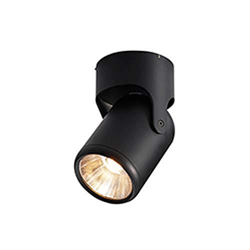 Ytytyt Foco montado en superficie para el hogar LED Foco de techo COB Foco de techo montado en superficie Luz de pista Foco hogar baño cocina dormitorio