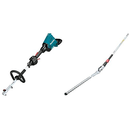 "Makita XUX01Z 18V X2 (36V) LXT Lithium-Ion Brushless Cordless Couple Shaft Power Head, Tool Only with EN401MP 20"" Articulating Hedge Trimmer Couple Shaft Attachment"