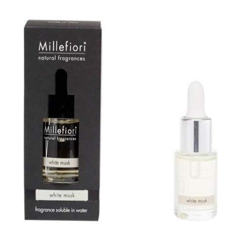 Millefiori Milano Wasserlöslich, zur Verwendung mit Ultraschall-Diffusor, Millefiori Hydro, White Musk, 15 ml