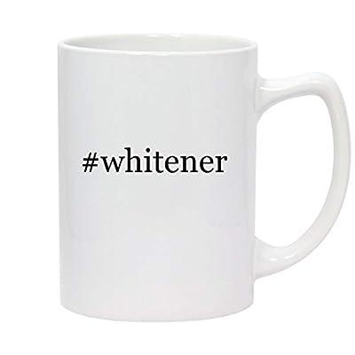 #whitener - 14oz Hashtag White Ceramic Statesman Coffee Mug