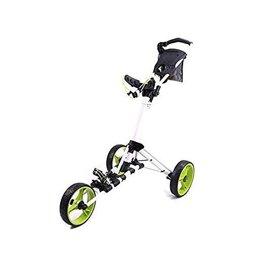 Great Price! BZLLW Golf Push Cart,Golf Trolley 3 Wheel Lightweight Foldable Golf Trolley Push Pull G...