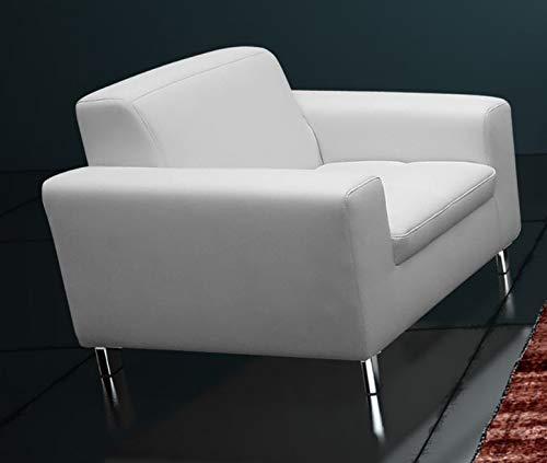 Froschkönig24 Imola Sessel Einzelsessel Einzelsofa Sofa Kunstleder Weiß