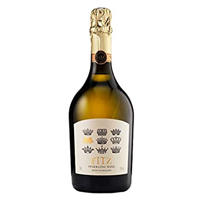 Fitz English Sparkling Wine (1 x 750ml) Low Sugar Brut 11g/Litre Made In Sussex