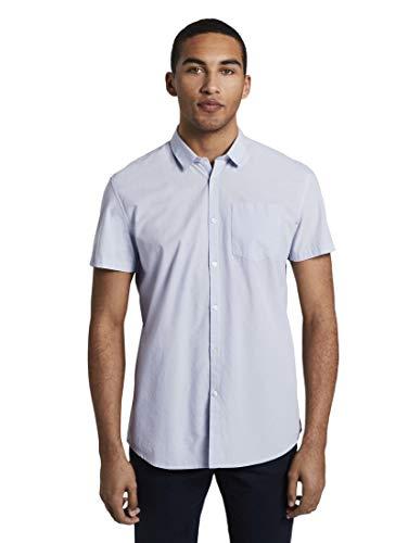 Tom Tailor 1018587 - Camisa vaquera para hombre azul claro XL