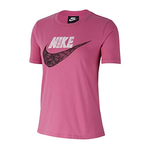 NIKE Camiseta de Mujer NSW Icon Clash GFX, Mujer, Camiseta para Mujer, CJ2055, Cosmic Fucsia, Extra-Large
