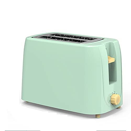 Angled-Large Capacity Toaster 2 Slice Toasters Retro, 6 Bread Shade Set up Bread Toaster, Extra Wide Slot and Removable Crumb Tray, withAutomatic pop-up and Cancel Function(Yellow, Green) High Safety