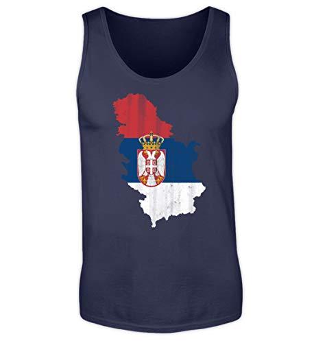 SwayShirt Serbien Srbija Fussball Nationalmannschaft Soccer Flagge Serbisches Trikot Landkarte - Herren Tanktop