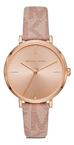 Michael Kors Women's Jayne Three-Hand Rose Gold-Tone Alloy Watch MK7130