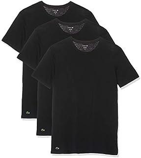 Lacoste Men's Cotton Crew-Neck T-Shirt Undershirt (3-Pack)