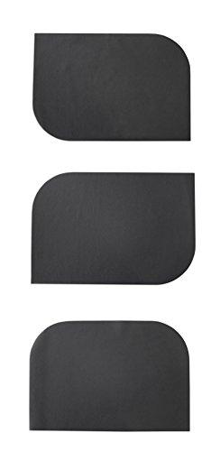 Ensemble de 6 sets de table simili cuir noir