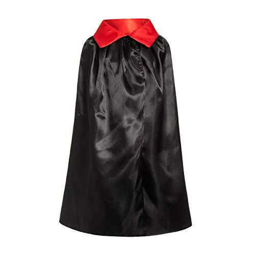 Kostümplanet® Vampir-Kostüm Kinder Halloween Umhang Dracula-Kostüm rot-schwarz Größe 140