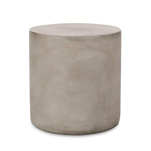 Christopher Knight Home 313406 Side Table, Light Gray