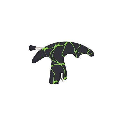 Three Finger Thumb Strong A1 Plastic Archery Release Aid Compound Bow Hunting Release Aid (Green)