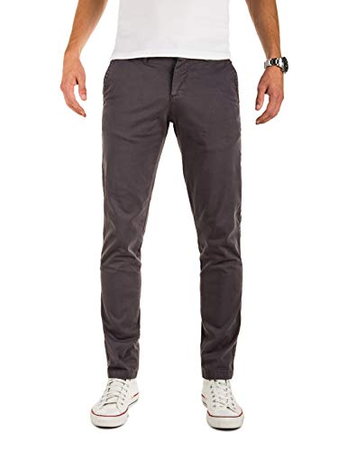 Yazubi Chinohose Herren - Modell Malphite by Yzb Jeans - Lange Chino Stoffhose - Graue Chinohosen Stretch, Grau (Nine Iron 193908), W32/L34